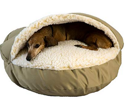 Snoozer-Cozy-Cave-Pet heated dog bed best dog beds for winter