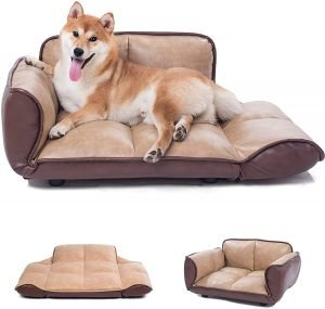 luxury-faux-leather-dog-bed