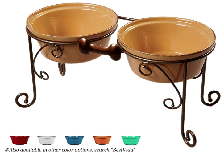 Elevated dog feeders for large breeds